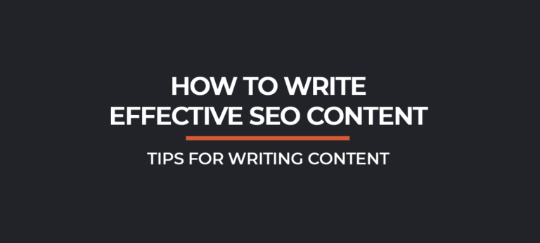 How To Write Effective Content for SEO